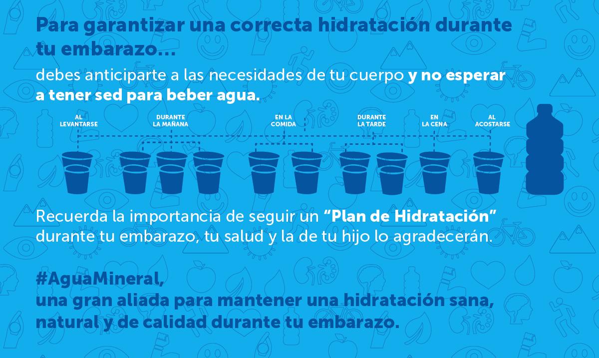 Beneficios de la hidratacion en el embarazo