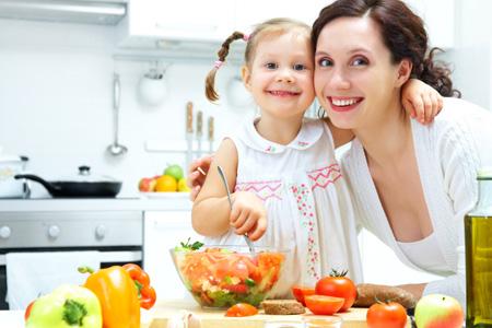 nutrición sana y divertida en familia